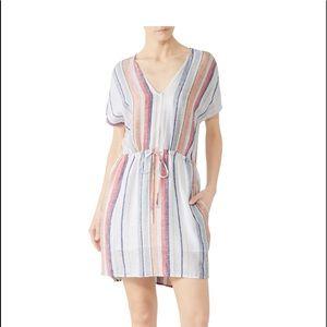 Rail multi color multi stripped mini dress pink
